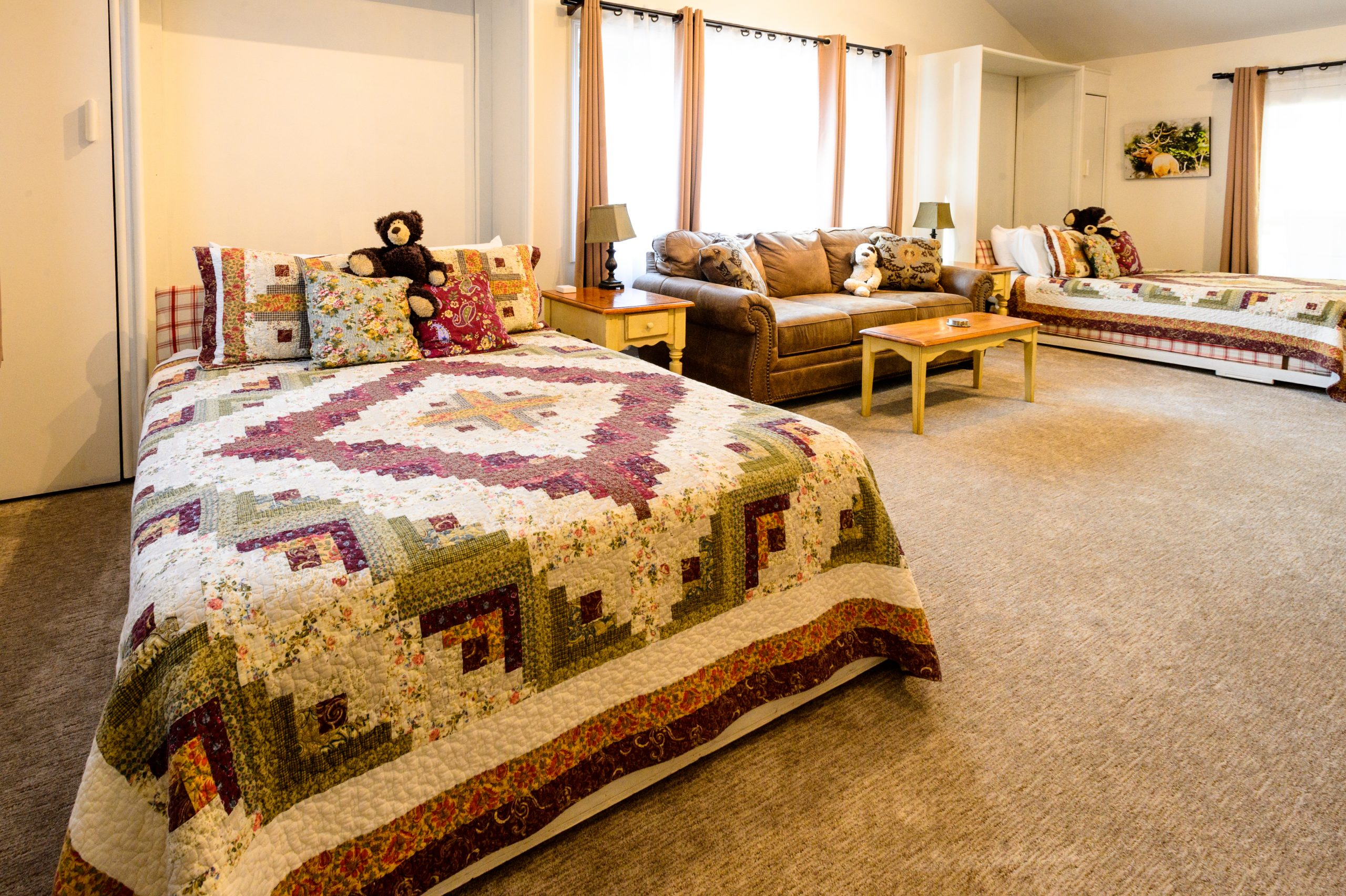 Jubilee Sweet Queen Murphy Beds, Living Room and Dining Area