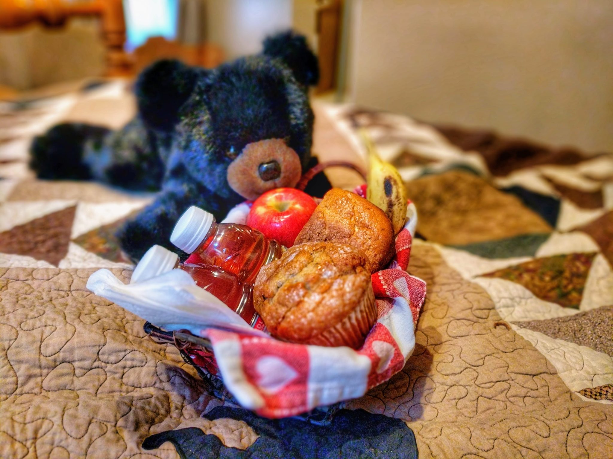 Teddy Bear With Breakfast Basket