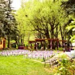 Pergola Decorated for Late May Wedding
