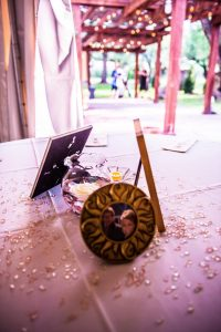 Wedding Decorations in a tent