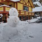 Our First Snowman - Courtesy or our Wonderful Guests