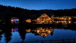 The lake house at Evergreen Lake