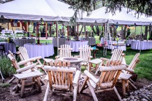 Fire Pit and Event Tents