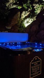 New Hot Tub - Blue Lights at Night