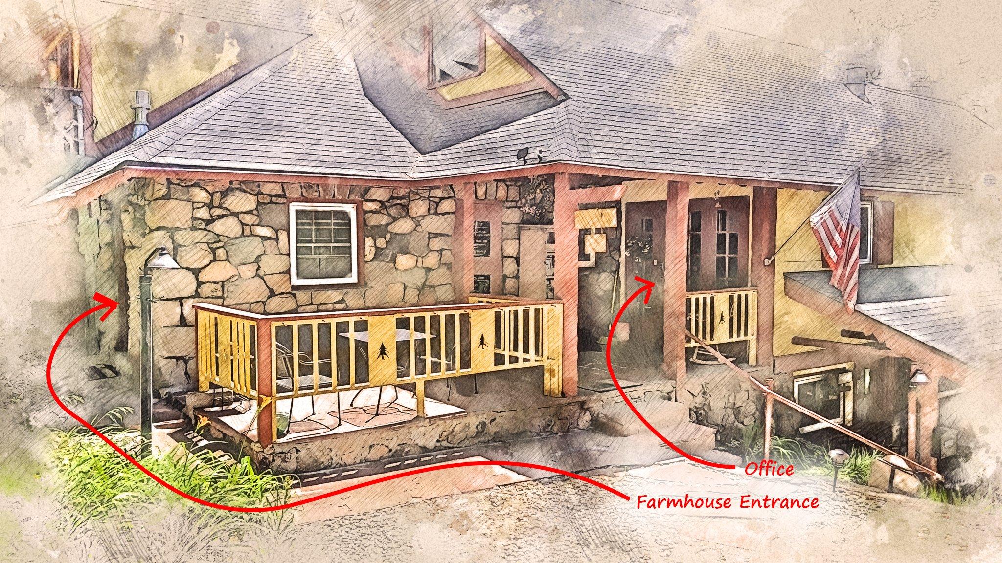 Farmhouse Room and Office Entrance